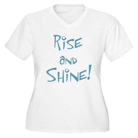 Rise and Shine! Women's Plus Size V-Neck T-Shirt