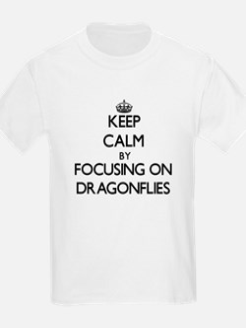 Keep Calm by focusing on Dragonflies T-Shirt