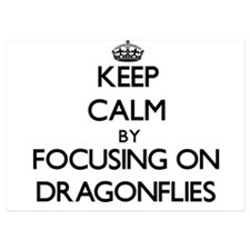 Keep Calm by focusing on Dragonflies Invitations