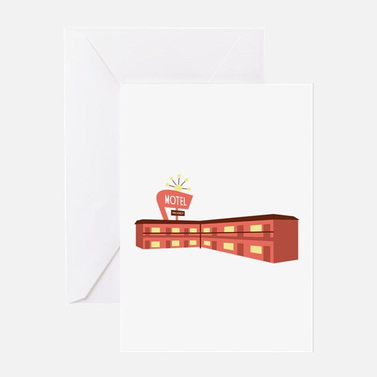 Highway Motel Greeting Cards