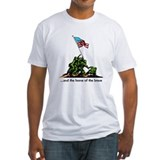 Raising the flag Fitted Light T-Shirts