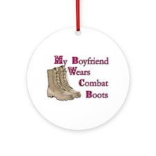 Combat Boots Ornament (Round)