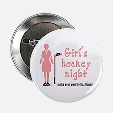 Girls' Hockey Night Button