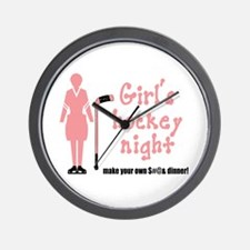 Girls' Hockey Night Wall Clock