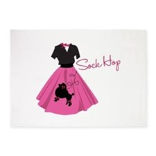 Sock Hop 5'x7'Area Rug