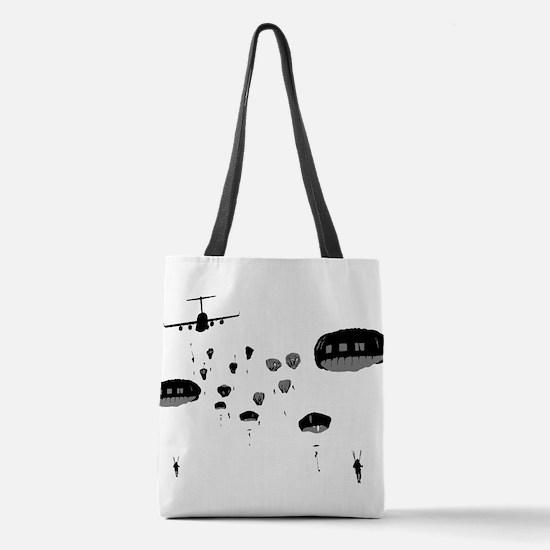 Parachuting Polyester Tote Bag
