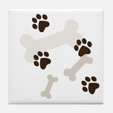Dog Bones Tile Coaster