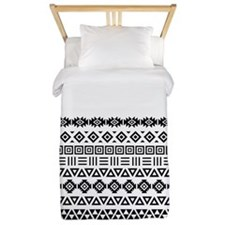 Aztec Influence Part Ptn (iii) Bw Twin Duvet