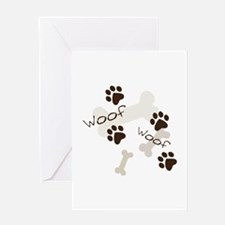 Woof Woof Greeting Cards