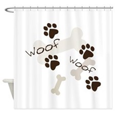 Woof Woof Shower Curtain