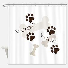 Woof Woof Shower Curtain
