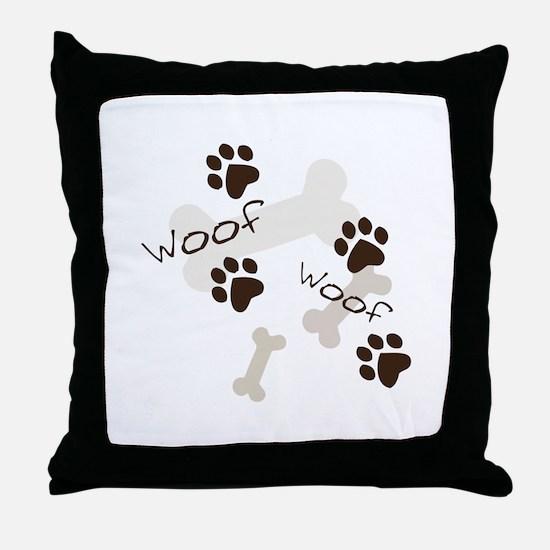 Woof Woof Throw Pillow