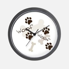 Woof Woof Wall Clock