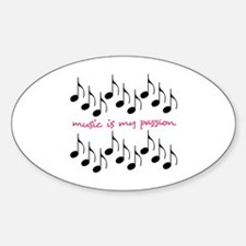 Music Is My Passion Decal