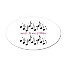 Music Is My Passion Wall Decal
