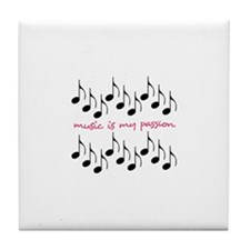 Music Is My Passion Tile Coaster