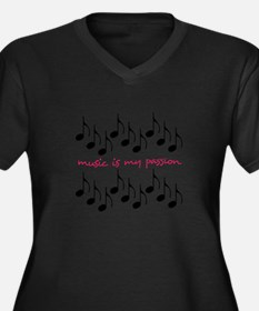 Music Is My Passion Plus Size T-Shirt