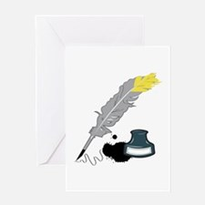 Quill And Ink Greeting Cards