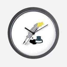 Quill And Ink Wall Clock