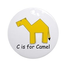 C is for Camel Ornament (Round)