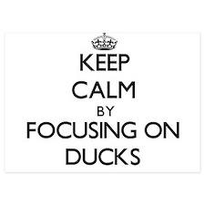Keep Calm by focusing on Ducks Invitations