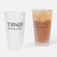 Fear Of Four Drinking Glass