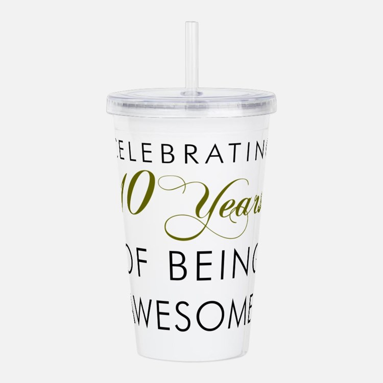 Celebrating 10 Years Drinkware Acrylic Double-wall