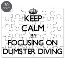 Keep Calm by focusing on Dumster Diving Puzzle
