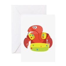 Swimming Lobster Greeting Cards