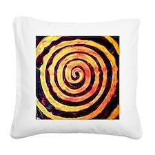 Vortex Spiral Square Canvas Pillow