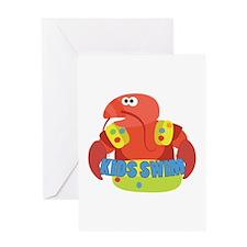 Kids Swim Greeting Cards