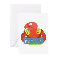 Swimming Lessons Greeting Cards