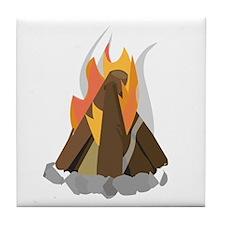 Camp Fire Tile Coaster