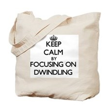 Keep Calm by focusing on Dwindling Tote Bag
