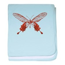 Vintage Butterfly baby blanket