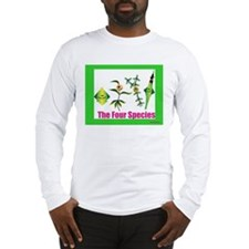 The Four Species Sukkah poster Long Sleeve T-Shirt
