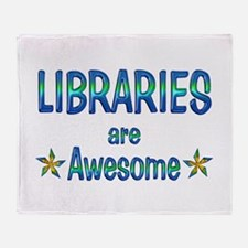 Libraries are Awesome Throw Blanket