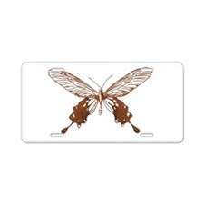Vintage Butterfly Aluminum License Plate