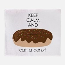 Eat A Donut Throw Blanket