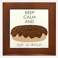 Eat A Donut Framed Tile