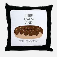 Eat A Donut Throw Pillow