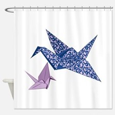 Origami Crane Shower Curtain