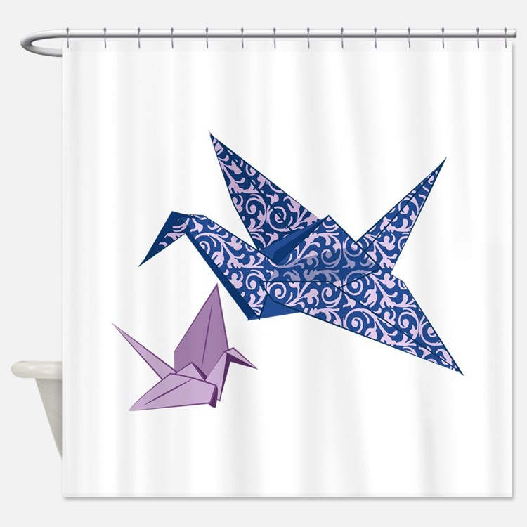 Origami Crane Shower Curtain