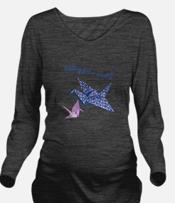 Waiting For A Breeze Long Sleeve Maternity T-Shirt