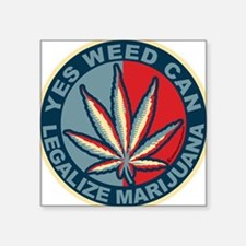 Yes-Weed-Can-Circle Sticker
