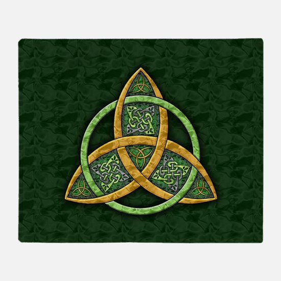 Celtic Trinity Knot Throw Blanket