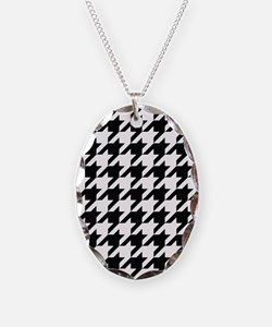 Houndstooth Black and White Classic Pattern Neckla