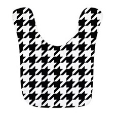 Houndstooth Black and White Classic Pattern Bib