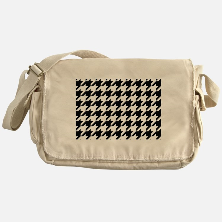 Houndstooth Black and White Classic Pattern Messen