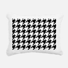 Houndstooth Black and White Classic Pattern Rectan